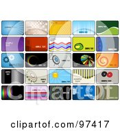 Royalty Free RF Clipart Illustration Of A Digital Collage Of Business Card Template Designs