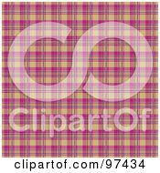 Royalty Free RF Clipart Illustration Of A Pink And Tan Plaid Background