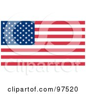 Royalty Free RF Clipart Illustration Of A Fourth Of July American Flag With Stars And Stripes