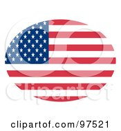 Royalty Free RF Clipart Illustration Of An Oval Fourth Of July American Flag With Stars And Stripes