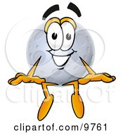 Clipart Picture Of A Moon Mascot Cartoon Character Sitting by Toons4Biz
