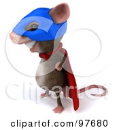 3d Chester Mouse Super Hero Facing Left