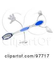 Royalty Free RF Clipart Illustration Of A 3d Toothbrush Character Doing A Hand Stand