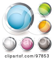 Royalty Free RF Clipart Illustration Of A Digital Collage Of Colorful Round And Shiny App Icons 3 by michaeltravers