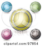 Royalty Free RF Clipart Illustration Of A Digital Collage Of Colorful Round And Shiny App Icons 2 by michaeltravers