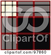 Royalty Free RF Clipart Illustration Of A Black Red Gray And White Tartain Plaid Background