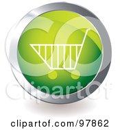 Green Shopping Cart App Icon