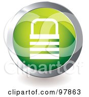 Royalty Free RF Clipart Illustration Of A Green Padlock App Icon by michaeltravers