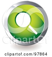Royalty Free RF Clipart Illustration Of A Green Search App Icon
