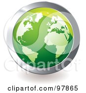 Royalty Free RF Clipart Illustration Of A Green Globe App Icon by michaeltravers
