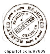 Royalty Free RF Clipart Illustration Of A Round Distressed Rejected Ink Stamp