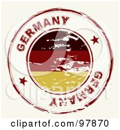 Royalty Free RF Clipart Illustration Of A Round Distressed Germany Ink Stamp by michaeltravers