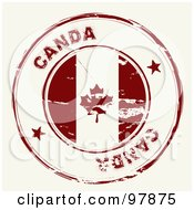 Royalty Free RF Clipart Illustration Of A Round Distressed Canada Ink Stamp