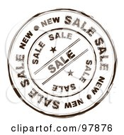 Royalty Free RF Clipart Illustration Of A Round Distressed Sale Ink Stamp by michaeltravers