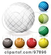 Royalty Free RF Clipart Illustration Of A Digital Collage Of Colorful Grid Orb App Icons