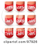 Royalty Free RF Clipart Illustration Of A Digital Collage Of Red Discount Sales App Icons by michaeltravers
