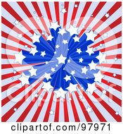 Royalty Free RF Clipart Illustration Of A Starry Burst American Background