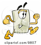 Clipart Picture Of A Light Switch Mascot Cartoon Character Running by Toons4Biz