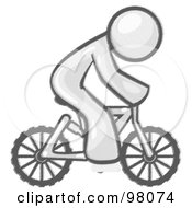 Royalty Free RF Clipart Illustration Of A Sketched Design Mascot Man Character Riding A Bicycle To Save Money On Gas