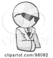Royalty Free RF Clipart Illustration Of A Sketched Design Mascot Businessman Avatar Wearing Shades