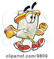Clipart Picture Of A Light Switch Mascot Cartoon Character Speed Walking Or Jogging