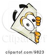 Clipart Picture Of A Light Switch Mascot Cartoon Character Peeking Around A Corner