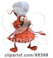 Royalty Free RF Clipart Illustration Of A 3d Rodney Germ Character Chef