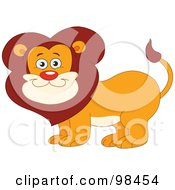 Royalty Free RF Clipart Illustration Of A Happy Smiling Zoo Lion by yayayoyo
