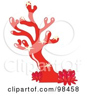 Royalty Free RF Clipart Illustration Of Starfish On A Red Sea Coral