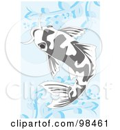 Royalty Free RF Clipart Illustration Of A Swimming Koi Fish 1