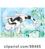Royalty Free RF Clipart Illustration Of A Swimming Koi Fish 2