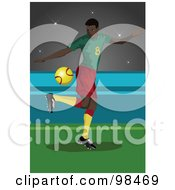 Royalty Free RF Clipart Illustration Of A Soccer Man 5 by mayawizard101