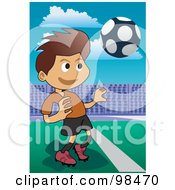 Royalty Free RF Clipart Illustration Of A Soccer Boy 7 by mayawizard101