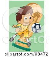 Royalty Free RF Clipart Illustration Of A Soccer Boy 5 by mayawizard101