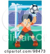 Royalty Free RF Clipart Illustration Of A Soccer Boy 6 by mayawizard101