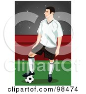 Royalty Free RF Clipart Illustration Of A Soccer Man 10 by mayawizard101