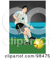 Royalty Free RF Clipart Illustration Of A Soccer Man 3 by mayawizard101