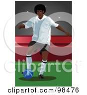 Royalty Free RF Clipart Illustration Of A Soccer Man 7 by mayawizard101