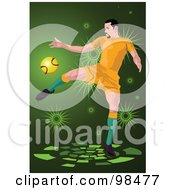 Royalty Free RF Clipart Illustration Of A Soccer Man 9 by mayawizard101