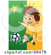Royalty Free RF Clipart Illustration Of A Soccer Boy 8 by mayawizard101
