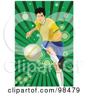 Royalty Free RF Clipart Illustration Of A Soccer Man 2 by mayawizard101