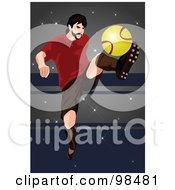 Royalty Free RF Clipart Illustration Of A Soccer Man 4 by mayawizard101