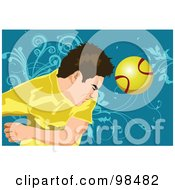 Royalty Free RF Clipart Illustration Of A Soccer Man 8 by mayawizard101