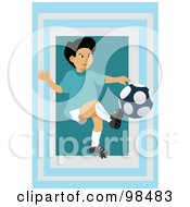 Royalty Free RF Clipart Illustration Of A Soccer Boy 9 by mayawizard101