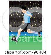 Royalty Free RF Clipart Illustration Of A Soccer Man 1 by mayawizard101
