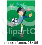 Royalty Free RF Clipart Illustration Of A Soccer Boy 4 by mayawizard101