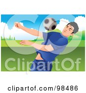 Royalty Free RF Clipart Illustration Of A Soccer Man 6 by mayawizard101