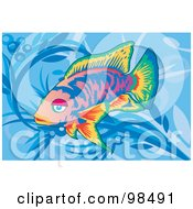 Royalty Free RF Clipart Illustration Of A Deep Sea Fish 4 by mayawizard101