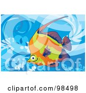 Royalty Free RF Clipart Illustration Of A Tropical Aquarium Fish 4 by mayawizard101