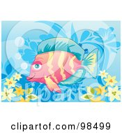 Royalty Free RF Clipart Illustration Of A Tropical Aquarium Fish 5 by mayawizard101